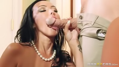 Kinky brunette gets drilled wildly