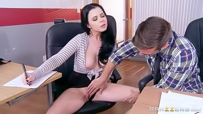 Busty teacher gets banged by a student
