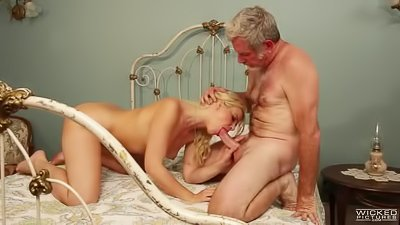 Busty blonde is getting banged wildly